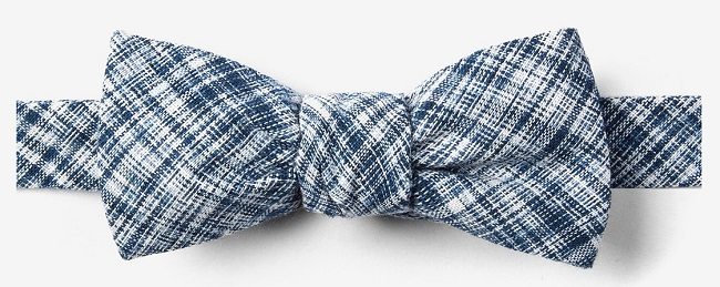 An example of a men's batwing bow tie
