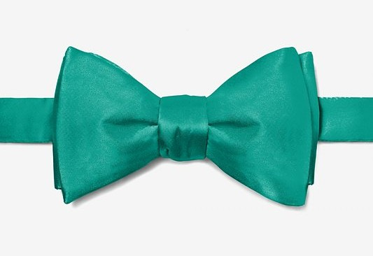 Wedding Teal Bow Tie