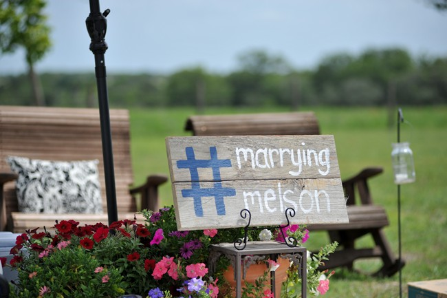 hashtag wooden wedding sign