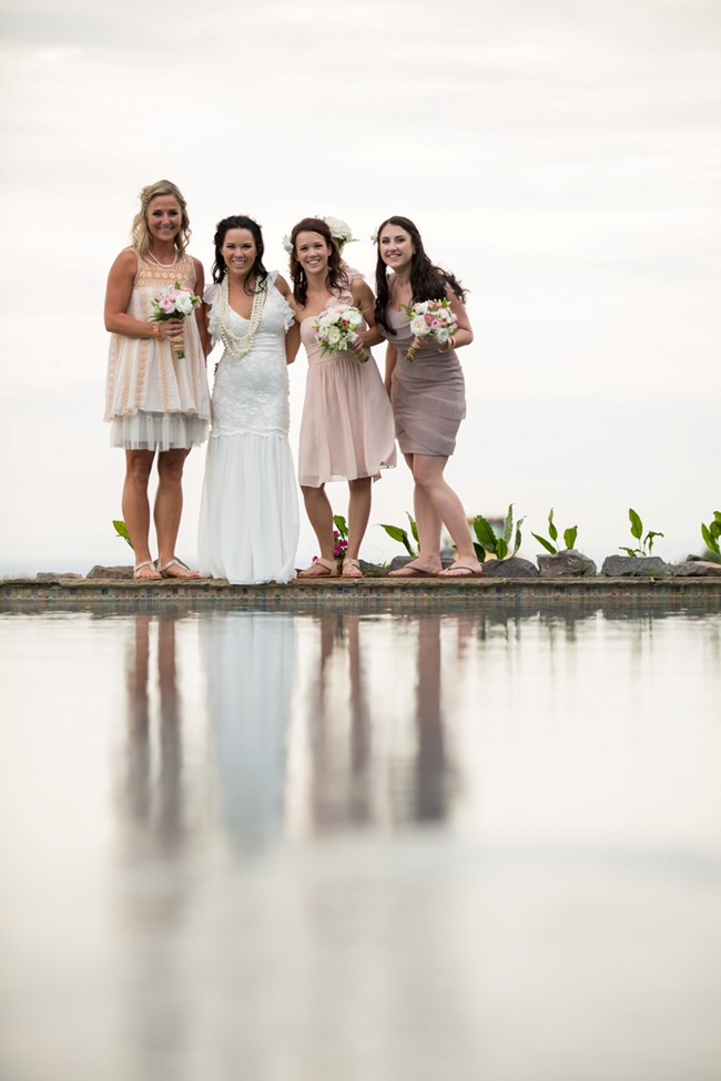 mismatched bridesmaids dresses in taupe