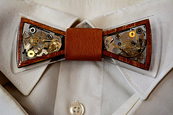 steampunk bow tie with gears and cogs