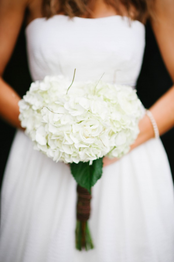 26 Bride carrying white hydrageas bouquet with twine at  Lindsey Plantation in Greer SC wedding