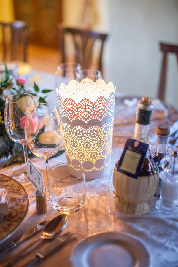 31 wedding reception at Livernano Radda in Chianti Tuscany, Italy paper lantern with candle