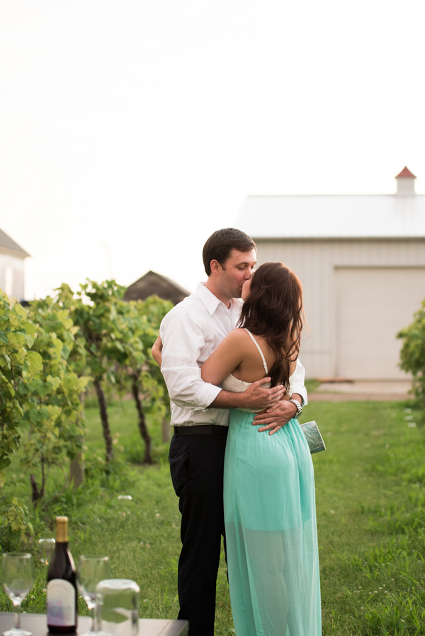 6 DAVENPORT WINERY engagement shoot couple embracing after engagement