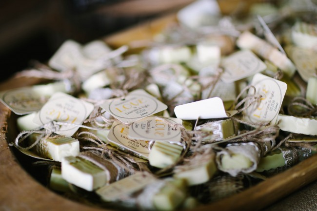 8 Lime soap wedding favors at  Lindsey Plantation in Greer SC wedding