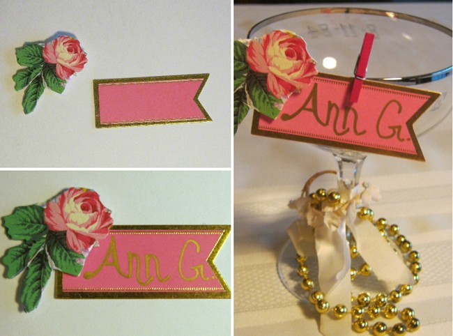 Ann griffin DIY place card wedding1