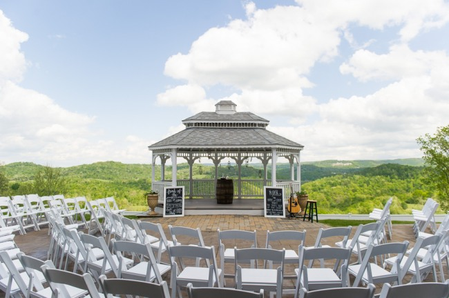 Outdoor gazebo wedding ceremony at Benton Grove