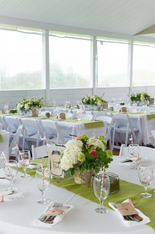 table setting in white