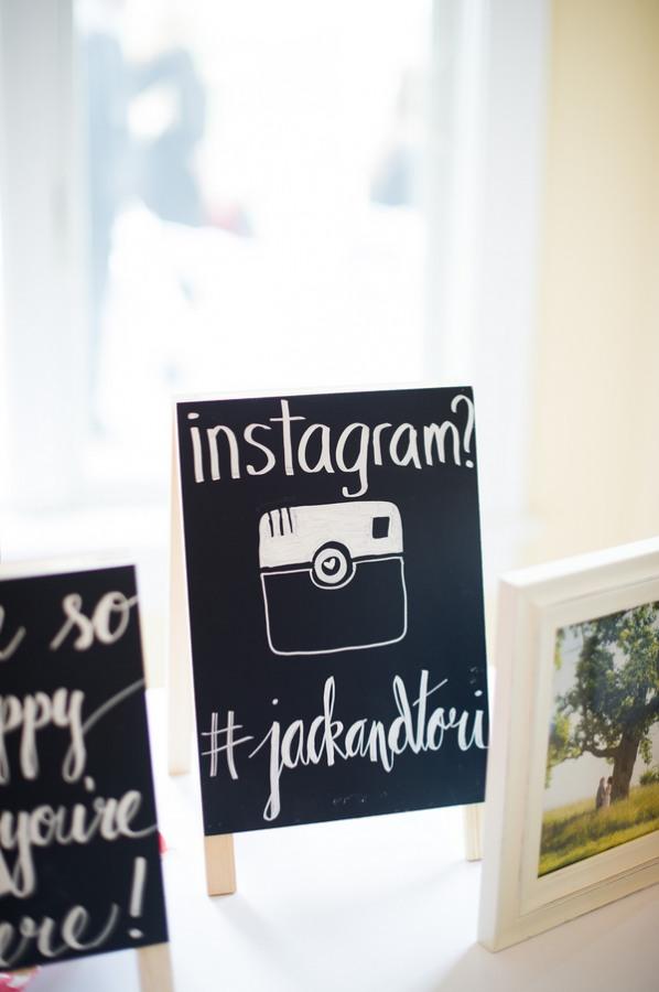Instagram sign for wedding