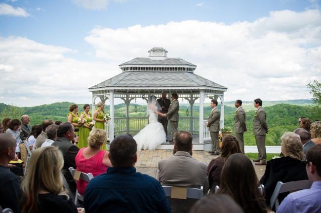 gazebo wedding ceremony at Benton Grove