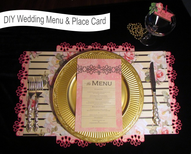 Feature image DIY wedding menu and place card