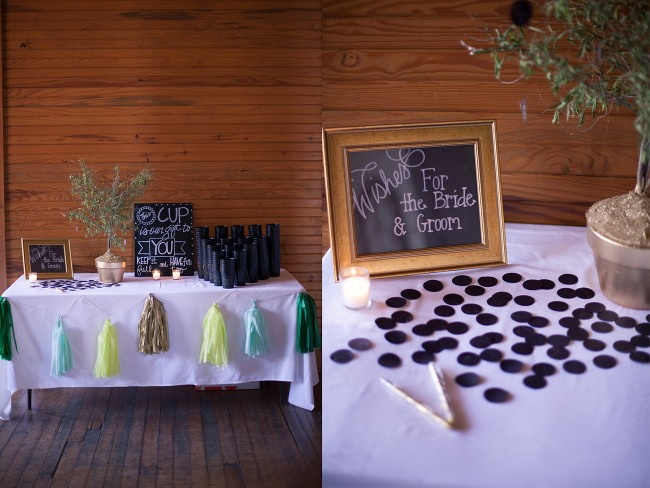 16 Wedding guest personalized wedding favor cups and wishing tree