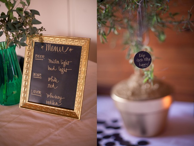 16 Wedding reception drink list and wishing tree