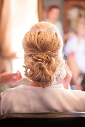 2 bride with an up do
