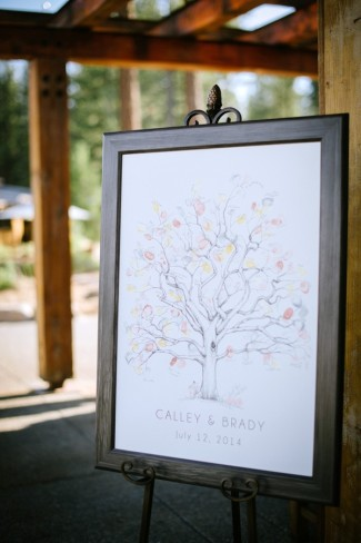 finger print wedding guest book