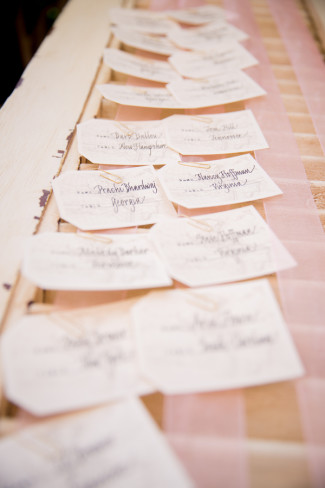 Romantic Rustic Winery Wedding in Northern California name cards