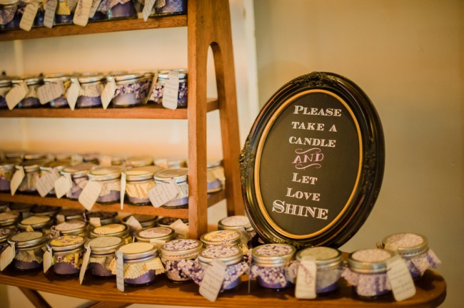 example candle wedding favors