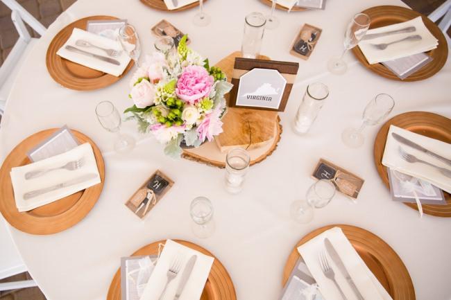 Guglielmo Winery wedding table setting