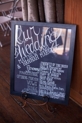 8 Chalk board welcome wedding sign