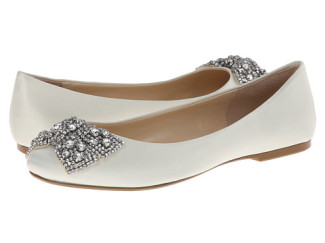 Blue by Betsey Johnson Ever white ballet flats