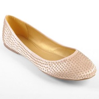 Journee Collection Laguna Studded Ballet Flats - Women