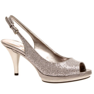 Peep toe slingback platform Nine West
