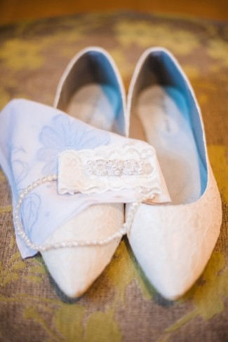 white Lace Bridal Ballet Flat by the dessy group