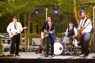 The Park Band at the reserve at oak bowery wedding reception