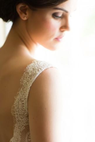 bride wearng tara keely wedding dress