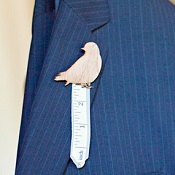 measuring tape boutonniere