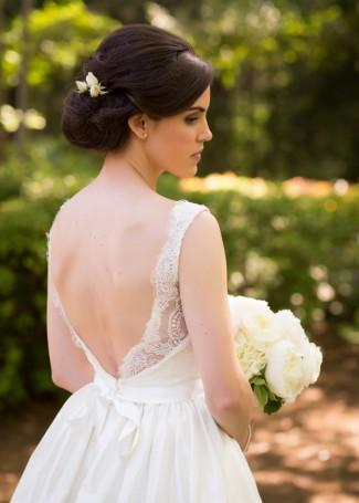 the reserve at oak bowery bride wearng tara keely wedding dress