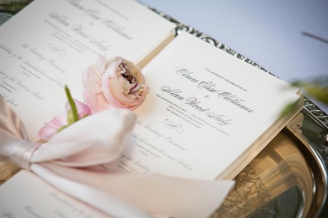 wedding programs at the reserve at oak bowery