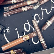 Cigar themed wedding