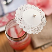 Doily umbrella stir stick