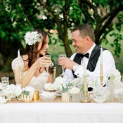 gold white winter styled shoot