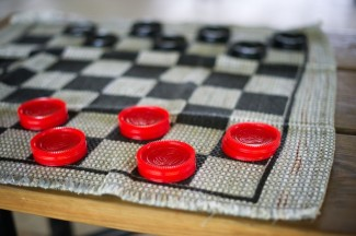Checkers game at Firestone Metro Park Wedding
