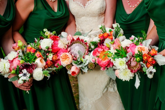 75 Vintage with Hints of Green Wedding at Mercury Hall