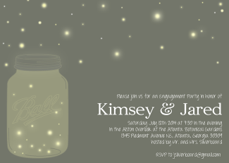 Fireflies Engagement Party invitation
