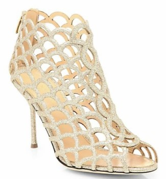 Sergio Rossi scalloped basket cut sandal