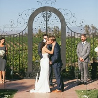 Vineyard wedding at Villa de Amore