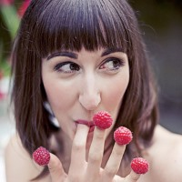 amelie wedding inspiration raspberries