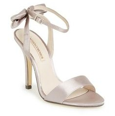 Milan satin ankle strap with bow sandal