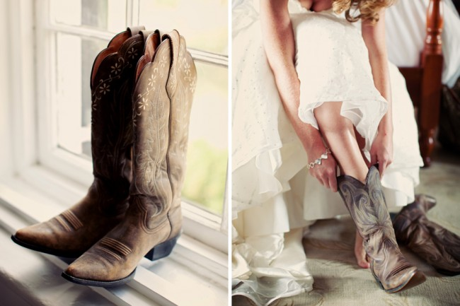 Wearing Cowboy Boots on your Wedding Day!