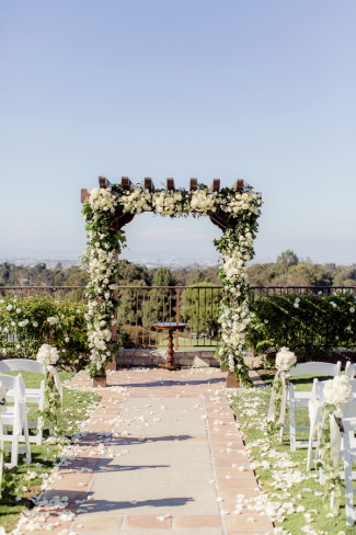 Beautiful Cream Floral Wedding With Hints Of Black