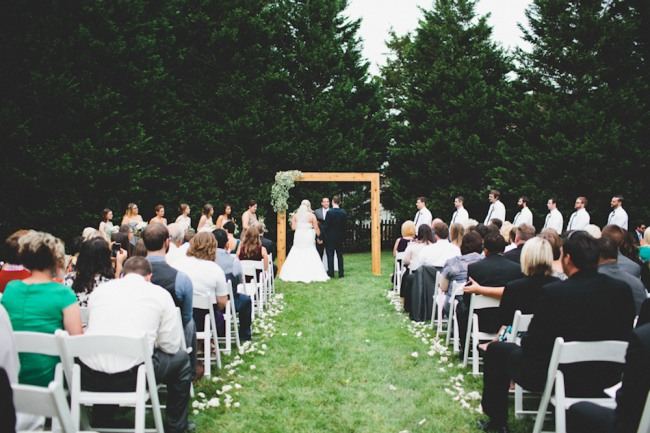 outdoor lawn wedding ceremony