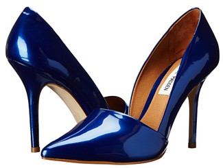 electric blue pumps by Steve Madden
