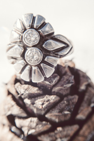 A unique engagement ring that looks like a pine cone