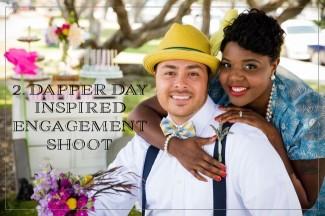 DAPPER DAY INSPIRED ENGAGEMENT SHOOT