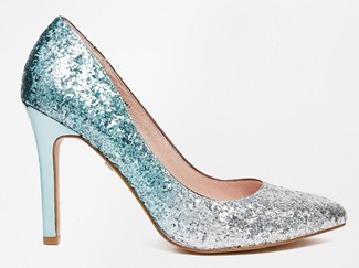 Faith Finchley Mint Ombre Glitter Heeled Court Shoes1