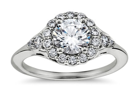 Flora Vida® Halo Diamond Engagement Ring